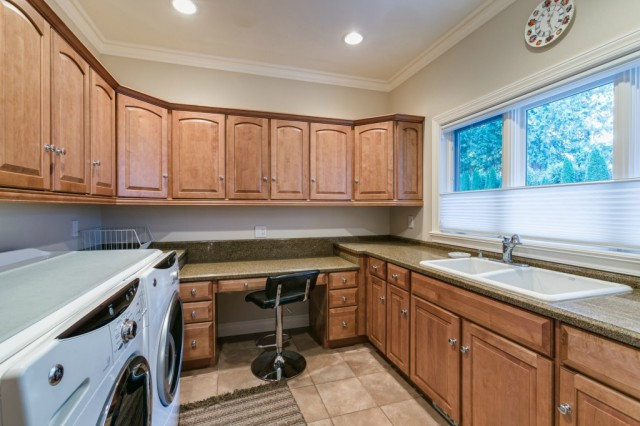 We love the idea of adding a folding station to your laundry room like the one in this Blaine, WA home.