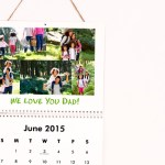 Help your dad remember dates: get him a photo calendar for Father's Day
