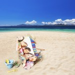 Personalized tote bags and photo towels are perfect for the beach