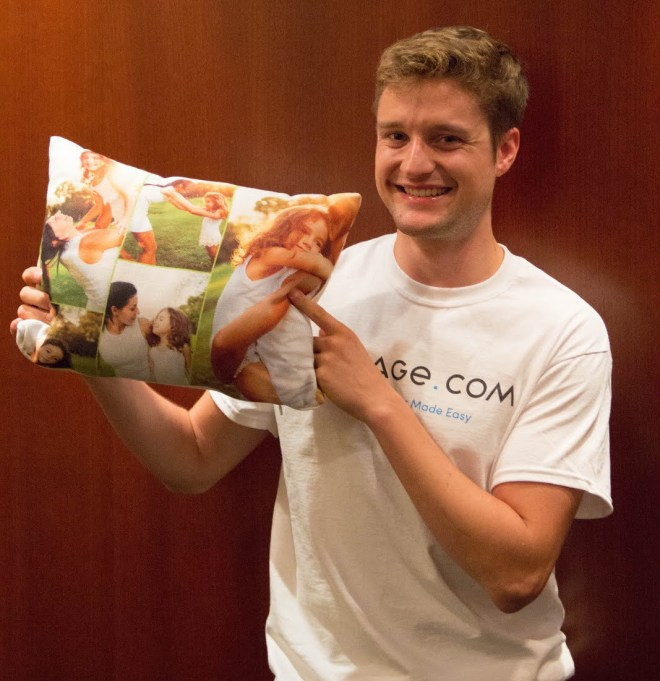 Everyone – even Olympic gold medalists – loves a custom photo pillow from Collage.com.
