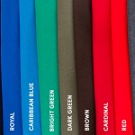 A rainbow of custom t-shirt color options from Collage.com