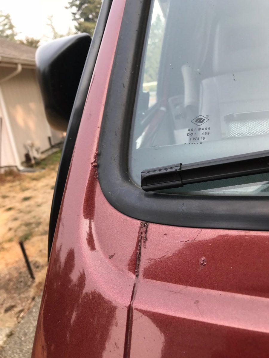 rock chip left side windshield