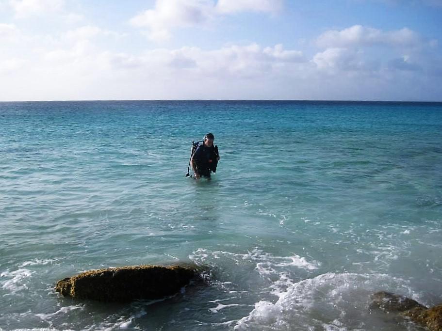 exiting shore diving