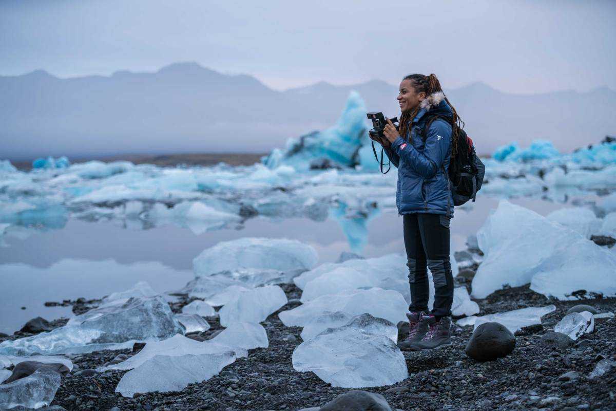 Faith Briggs in Iceland