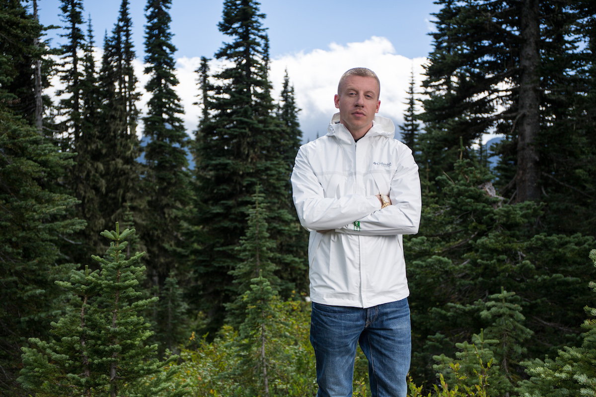 Macklemore Tested Tough wearing Columbia OutDry ECO Jacket in the Pacific Northwest