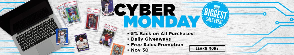 Cyber Monday, Cyber Monday Sale, Baseball Cards, Football Cards, Basketball Cards, Soccer Cards, Hockey Cards, Pokemon, Trading Cards, Sports Cards, The Hobby