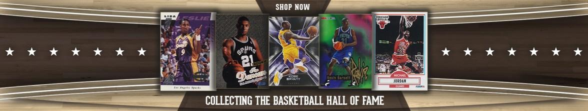 5 Basketball Card Banner with Kobe, Michael Jordan, Kevin Garnett , Lisa Leslie, and Tim Duncan