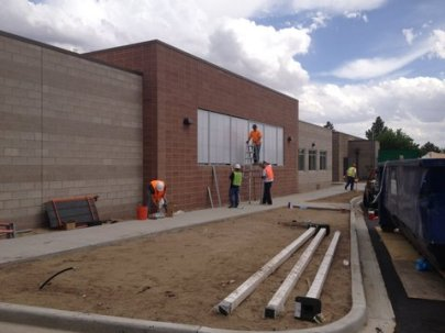 CPI Daylighting SolaQuad Wall Lights on the El Paso Co., CO Coroners Office