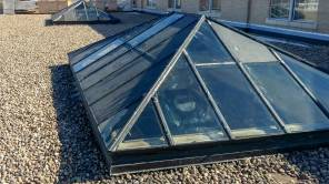 glass pyramid skylights 26107 102717 3