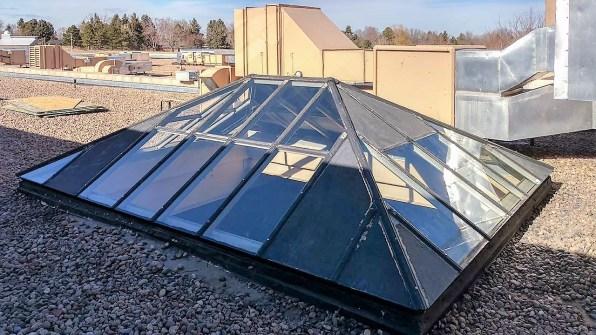 glass pyramid skylights 26107 102717 5