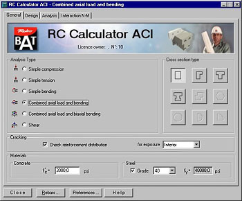 RC Calculator ACI