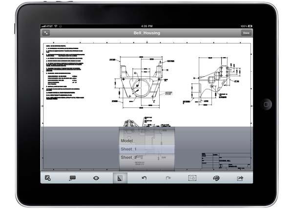 AutoCAD WS iPad