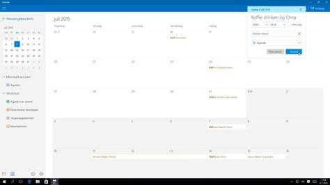 Wellicht even wennen voor Outlook-ridders: een afspraak voeg je toe middels de standaard linker muisknop.