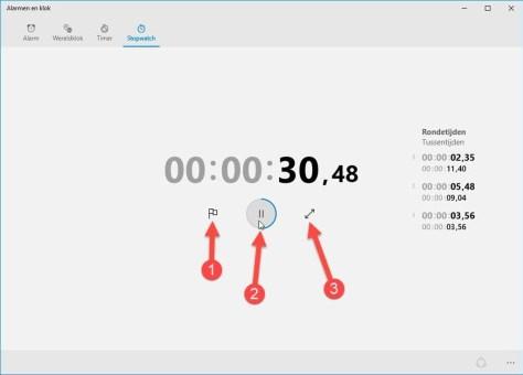 Nooit meer naarstig op zoek naar een stopwatch voor gebruik tijdens bijvoorbeeld een natuurkunde-experiment.