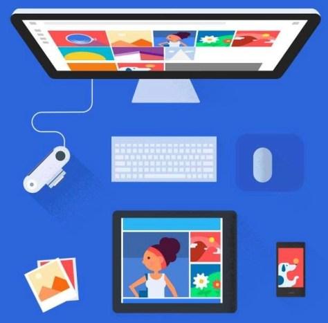Google Photos is beschikbaar voor mobiele apparaten en voor de desktop computer.