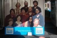 Het eerste Microsoft-team met linksonder Bill Gates.