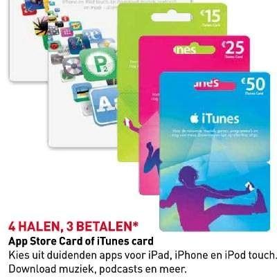 Prepaidtegoed kopen voor uw Apple ID levert soms een leuk voordeeltje op.