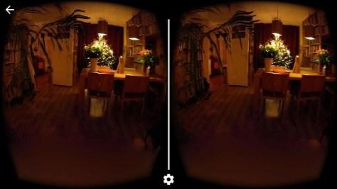 Het beeld wordt op je mobieltje gesplitst in twee delen.