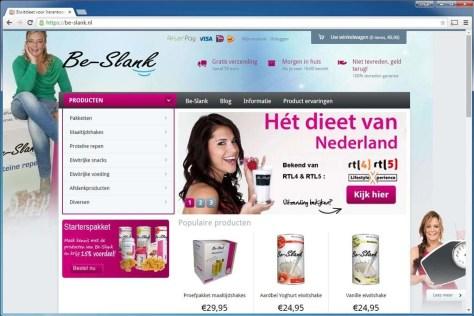 Be-slank.nl. Deze website levert dieetproducten. Naast een webshop gebruikt de site ook de blogmogelijkheid van WordPress. Gebruikt onder meer de plug-in Google Analytics for WordPress om bezoekersaantallen bij te houden.