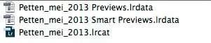 De Slimme voorvertoning wordt opgeslagen in apart bestand, Smart Previews.lrdata, wat zich bij de Lightroom Catalogus en de gewone voorvertoningen bevindt.