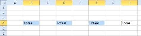 Met Ctrl+Enter komt hetzelfde woord in alle cellen tegelijk.