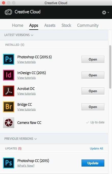De twee versies van Photoshop staan nu op je computer.