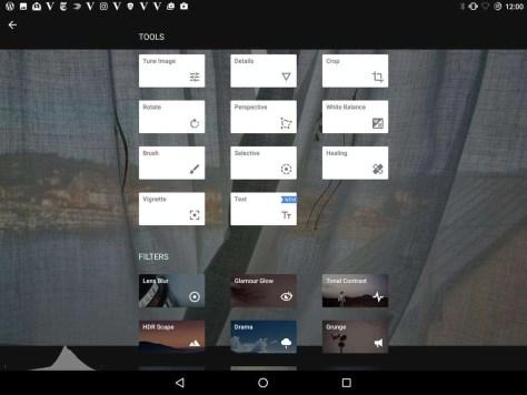 De uitgebreide mogelijkheden in Snapseed om op je mobiele apparaten foto's te bewerken.