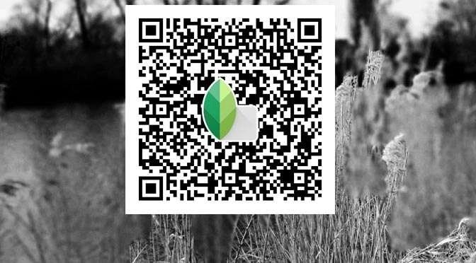 Een QR-look uit Snapseed delen met je vrienden