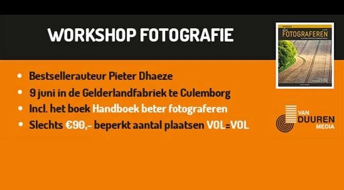 Workshop Fotografie door Pieter Dhaeze