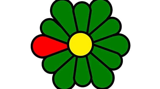 ICQ was dé messenger voor de komst van Skype en Whatsapp (bron afbeelding: https://commons.wikimedia.org/wiki/File:Im-icq_in_colours.svg)