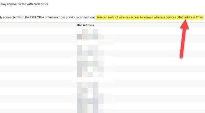 Zet MAC adresfiltering aan in je router