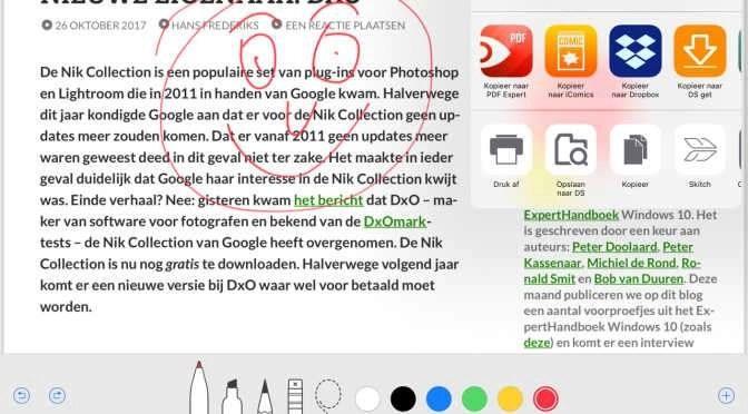 Maak eenvoudig een pdf in iOS 11