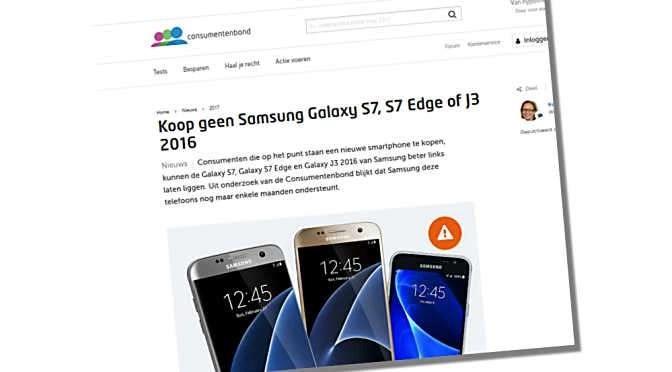 Ondersteuning voor Android te kort