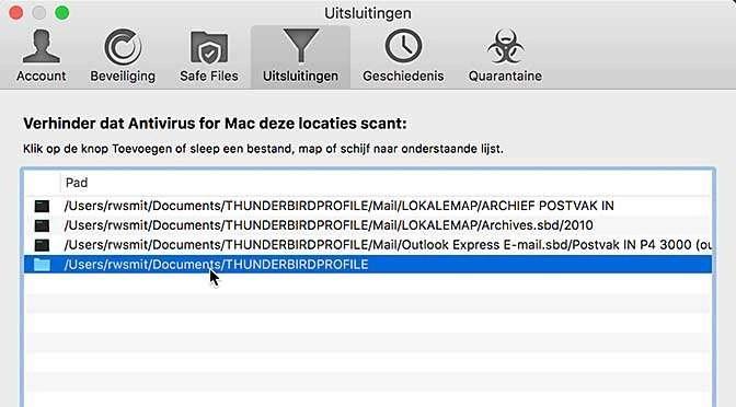 Virusscanner en mailsoftware