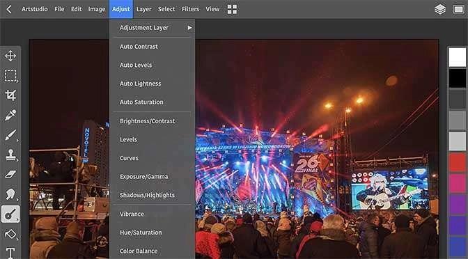 ArtStudio Pro voelt en oogt als een desktopprogramma