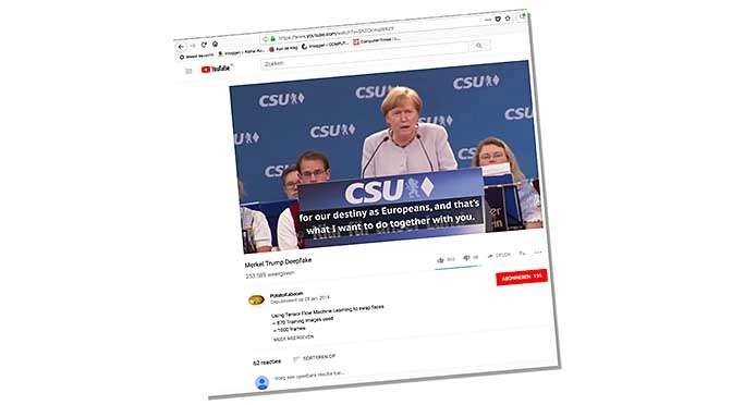 Deepfake, ofwel gezichten verwisselen