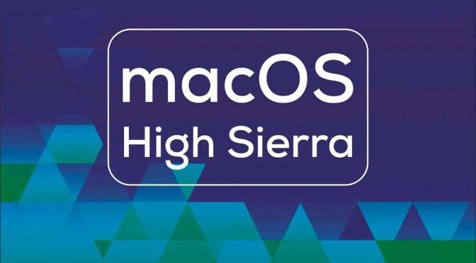 High Sierra: iCloud-sleutelhanger en 'Terug naar mijn Mac'
