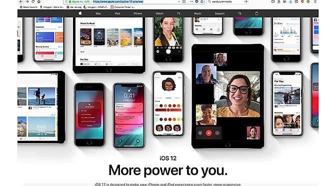 iOS 12 maakt oude apparaten sneller