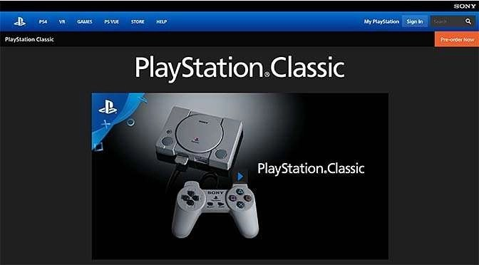 Sony komt met PlayStation Classic