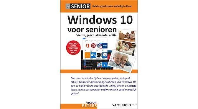 Ook ouderen werken natuurlijk met computers, voor hen is er het boek Windows 10 voor Senioren, 4e editie van Victor Peters