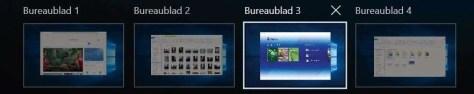 Meerdere bureaubladen in Windows 10