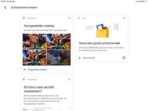 Interface-aanpassingen van Google Foto's