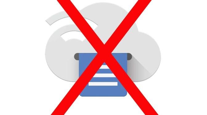 Google Cloud Print stopt ermee