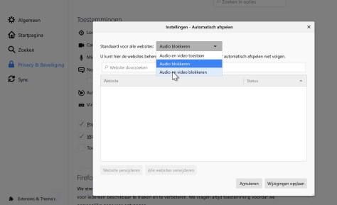 Stop autoplay met Firefox