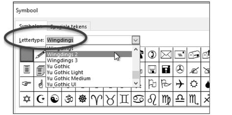 Word: Speciale tekens, symbolen en accenten invoegen