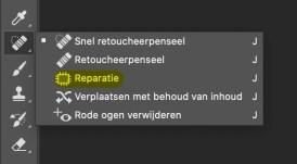 Photoshop Reparatie-gereedschap