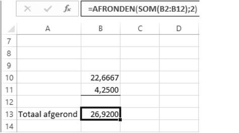 Afronden in soorten en maten met Excel