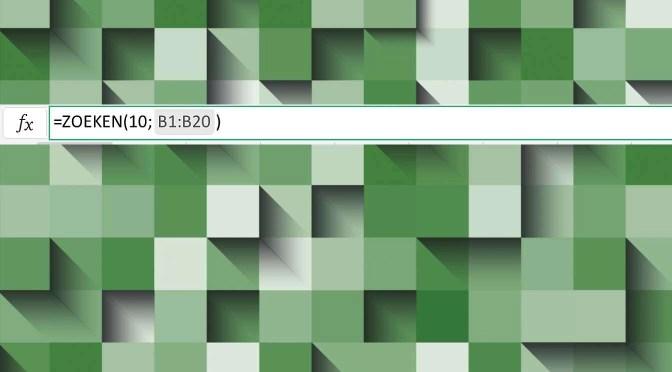 De functie 'Zoeken' in Excel