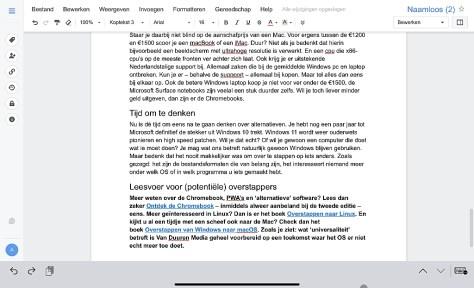 Microsoft Office-apps voor Chromebook