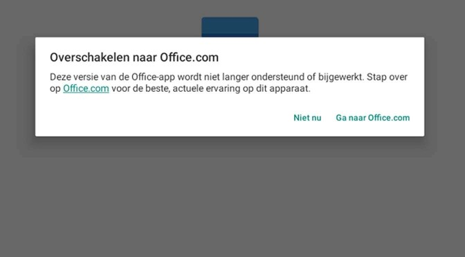 Geen Microsoft Office-apps meer voor Chromebook